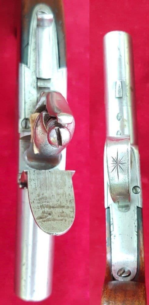 A good English Flintlock pocket pistol made bySmith. Circa 1800. Ref 1575.